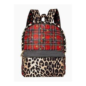 New Betsey Johnson Multicolor Mixed Print Backpack